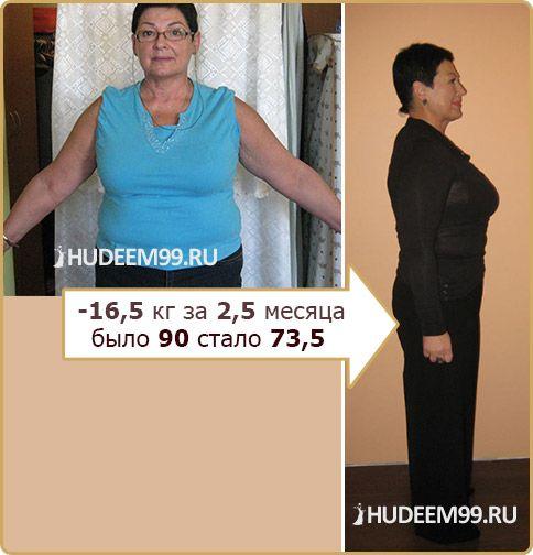 Татьяна Литвак - до и после похудения